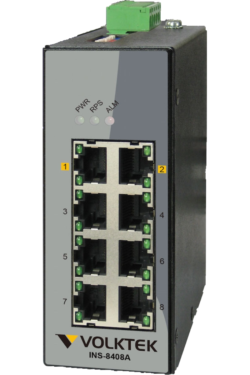 Industrial Ethernet Switches , Unmanaged - INS-8408A