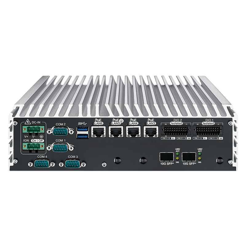 10GigE Systems , Fanless PC Box - ECS-9771