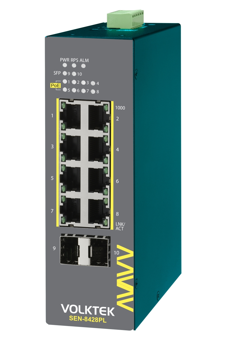 Industrial Ethernet Switches , Lite Managed - SEN-8428PL-24V
