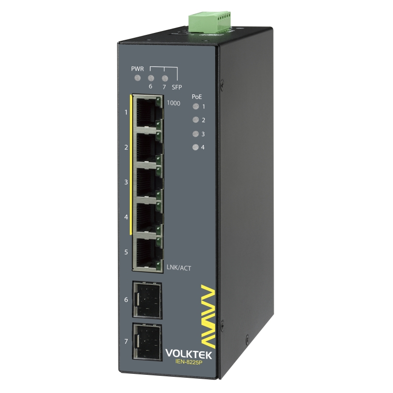Industrial Ethernet Switches , Unmanaged - IEN-8225P-24V