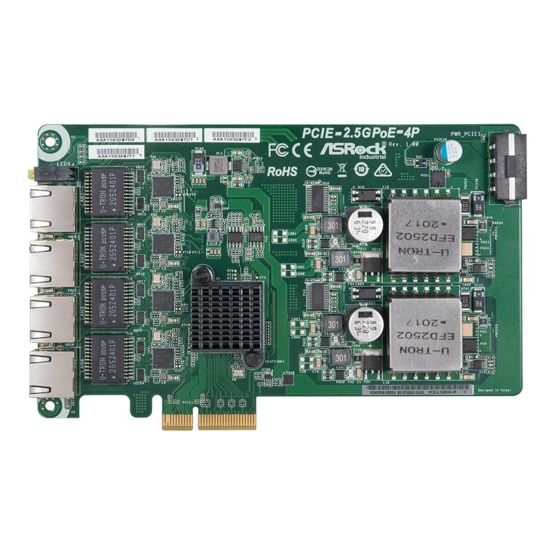 PCIe Cards - PCIE-2.5GPoE-4P
